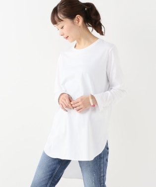 【ATON】ラウンドヘムロングスリーブTシャツ