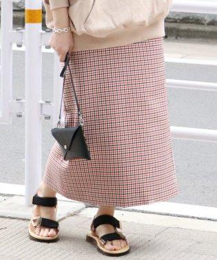パペットチェックタイトスカート