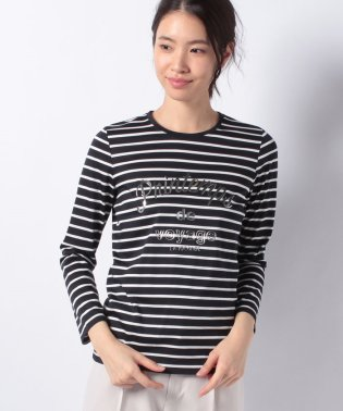 【洗える】プリントボーダーTシャツ