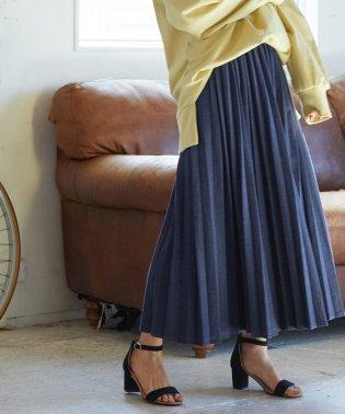 【WEB限定】カットデニムプリーツスカート
