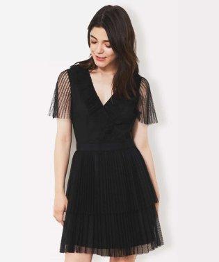 チュールプリーツドレス