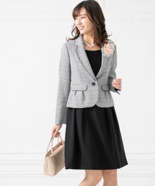 【卒業式・入学式・セレモニー・結婚式】2ジャケット+フレアワンピース セットアップスーツ(3点セット)