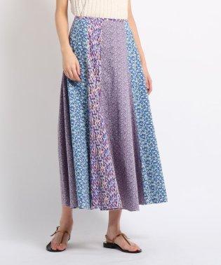 【洗える】LIBERTYフラワープリント ロングスカート