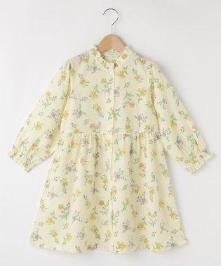 【110cm~150cm】花柄ジョーゼットワンピース
