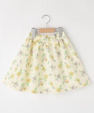 【110cm~150cm】花柄ジョーゼットスカート