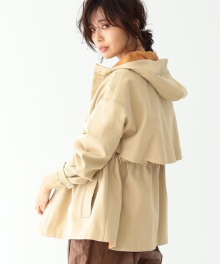 Demi-Luxe BEAMS / ダブルフェイス フード付き コート