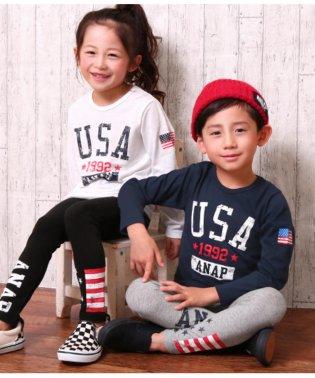 USAフラッグロングTシャツ