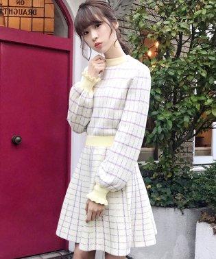 【Ray 3月号掲載】【セットアップ対応商品】チェックジャガードニットスカート