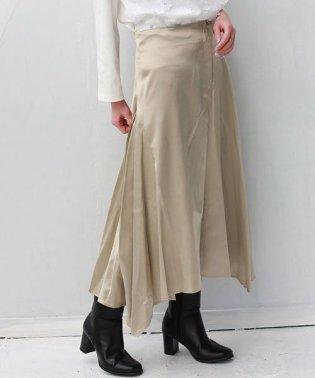 Buyer's select サテンヘムフレアスカート