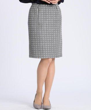 ファンシーツイードAラインスカート