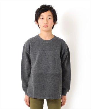 ビッグシルエット切替・厚手長袖Tシャツ
