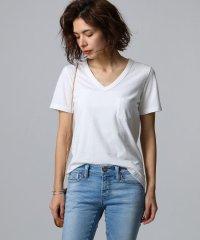 【洗える】コットンVネックTシャツ