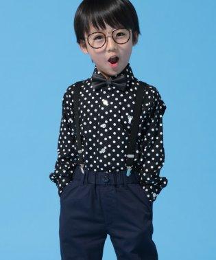 【オケージョンにもおすすめ・coen キッズ / ジュニア】ドットカッタウェイシャツ(100~150cm)