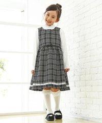【100cm~140cm】チェック柄ジャンパースカート