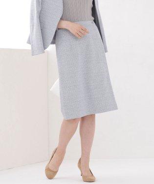 リネン混Aラインスカート