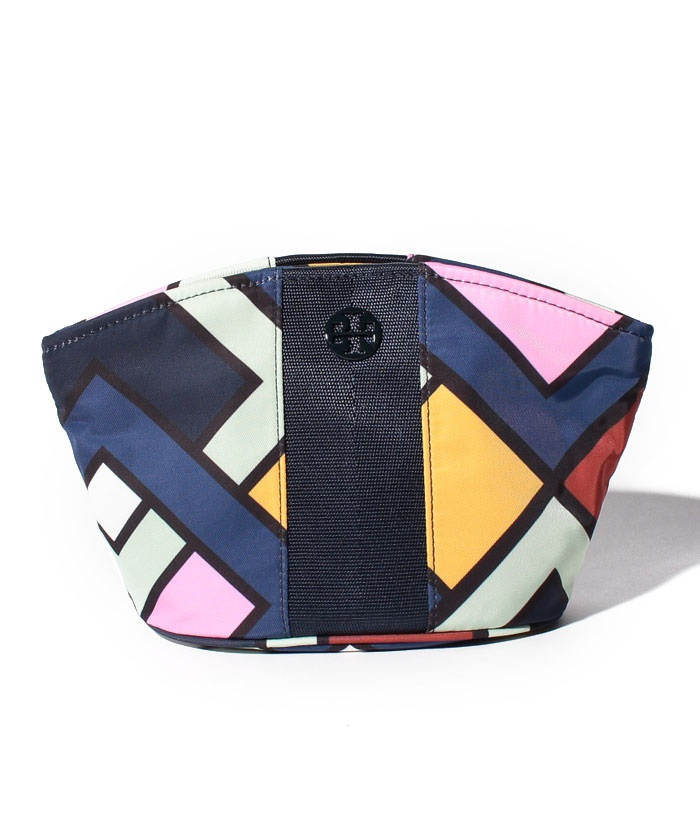 【TORY BURCH】ポーチ/LARGE DOME COSMETIC CASE【PICNIC BOX/PINK CARNATION】