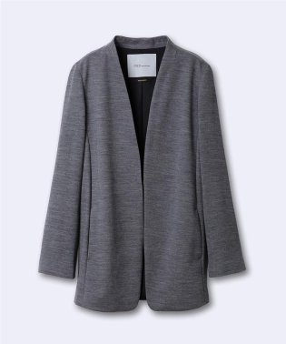 《INED international collection》ウールアビガイルポンチロングジャケット