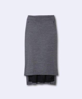 《INED international collection》ウールアビガイルポンチバックロングスカート