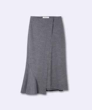 《INED international collection》ウールアビガイルポンチアシメトリースカート