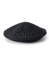 ペーパー編みベレー帽