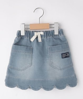 【90-140cm】デニムスカート風パンツ