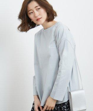 ロゴプリントロングTシャツ
