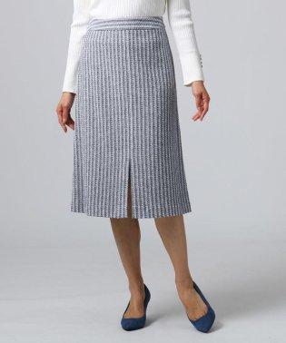 ◆ストライプ柄ツイードスカート