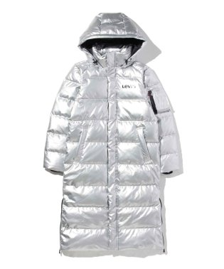 THE BATWING LONG PUFFER LAMINATED SILVER