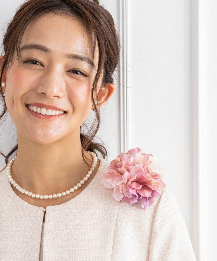 (form forma/フォルムフォルマ)【結婚式・お呼ばれ・セレモニー】フォーマルコサージュ・ブローチ/レディース ピンク