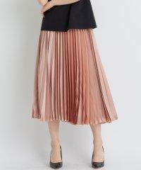 クラッシュドサテンプリーツスカート