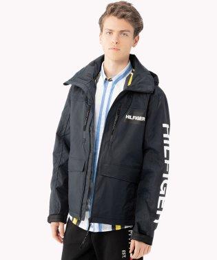 カラーブロックフーデッドジャケット
