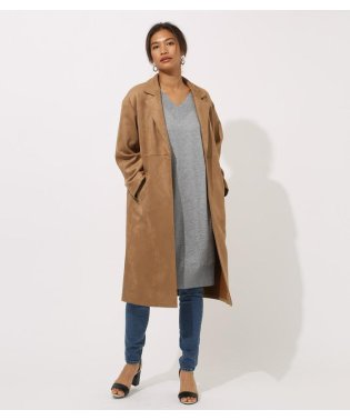 FAKE SUEDE CHESTER COAT