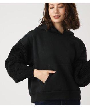 Knit sleeve HOODIE