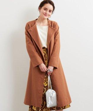 ◆KFC コットン/LI ダブルクロス ノーカラー コート