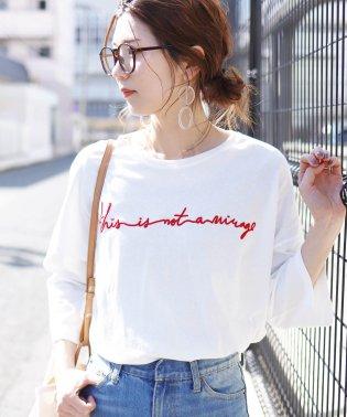 筆記体ロゴTシャツ