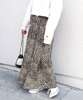 Khaju:レオパードロングスカート