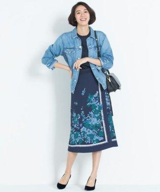 【洗える】SCARF PRINT スカート