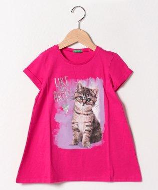 おしゃれペットロールアップ半袖Tシャツ・カットソー