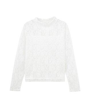 RETRO GIRL レトロガール ハイネック総レースTシャツ SB191-WC001