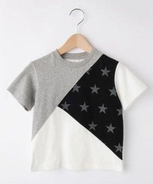 【100cm~150cm】カラーブロック 星柄Tシャツ