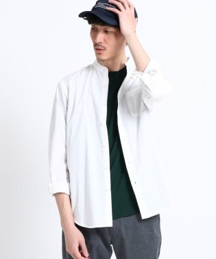 【WEB限定】タイプライターバンドカラーシャツ