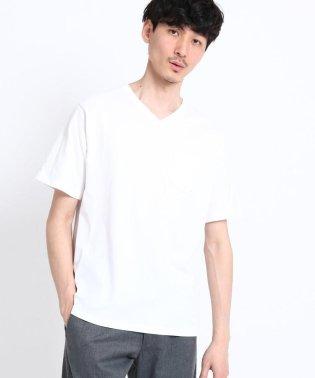 【WEB限定】【USAコットン】VネックカラーTシャツ