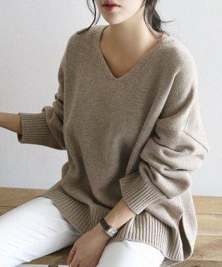 NANING9(ナンニング)ゆるフィットVネックセーター