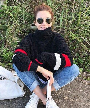 NANING9(ナンニング)ポイントカラーセーター