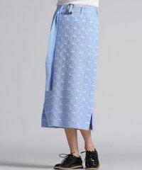 【socolla】ブロックラインニットスカート