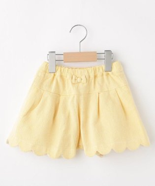 【90-140cm】リボン付きキュロットスカート