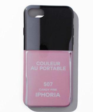 【iPhone8/iPhone7対応】 ネイルボトルシリーズ Couleur au Portable Candy Pink