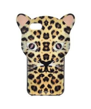 【iPhone8/iPhone7対応】 アニマルヘッドシリーズ Leo Case Brown Leopard