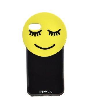 【iPhone8/iPhone7対応】 Round Case Yellow Smiley
