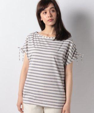 ボーダーフレンチギャザー半袖Tシャツ・カットソー